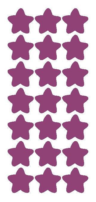 "1-1/4"" Plum Star Stickers Wedding Envelope Seals School Arts & Crafts - Winter Park Products"