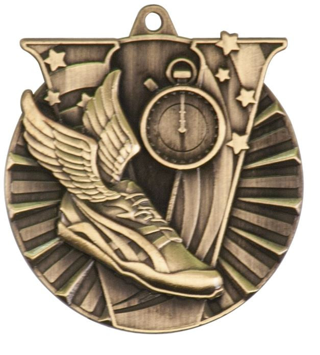 Track Runner Medals Award Trophy Team Sports W/FREE Lanyard FREE SHIPPING VM109 - Winter Park Products