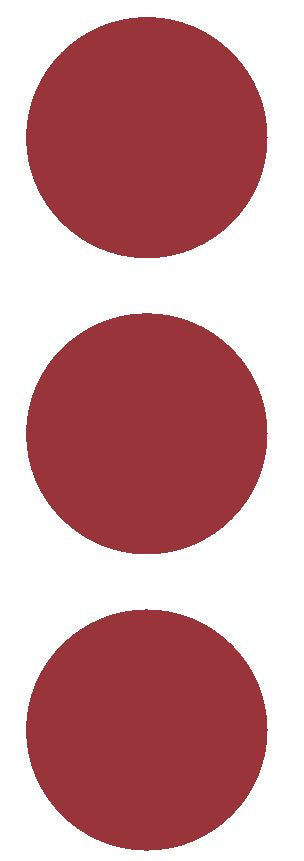 "2-1/2"" Burgundy Round Color Code Inventory Label Dots Stickers - Winter Park Products"