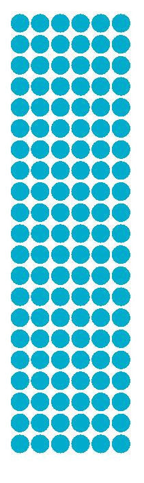 "3/8"" Light Blue Round Vinyl Color Code Inventory Label Dot Stickers - Winter Park Products"