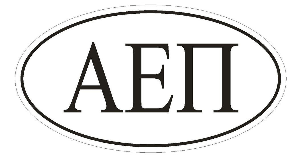 Alpha Epsilon Pi Fraternity EURO OVAL Bumper Sticker or Helmet Sticker D603 - Winter Park Products