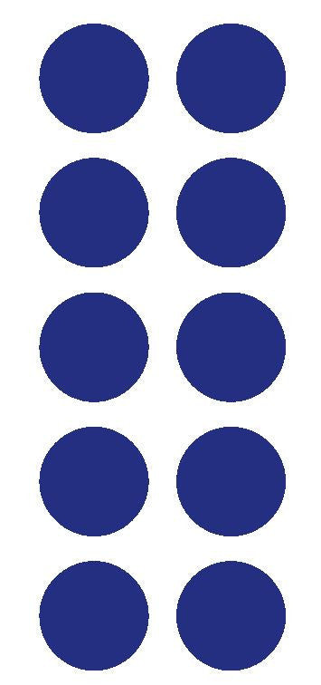 "2"" Dk Blue Round Color Coded Inventory Label Dots Stickers - Winter Park Products"