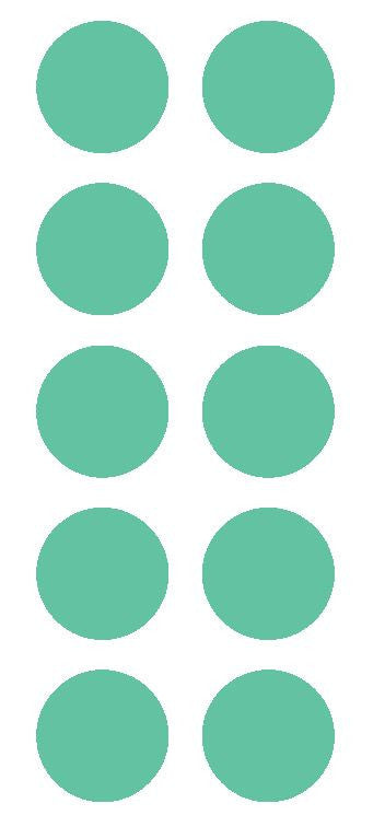 "2"" Mint Green Round Color Coded Inventory Label Dots Stickers - Winter Park Products"
