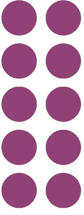 "1-1/2"" Plum Round Color Coded Inventory Label Dots Stickers - Winter Park Products"