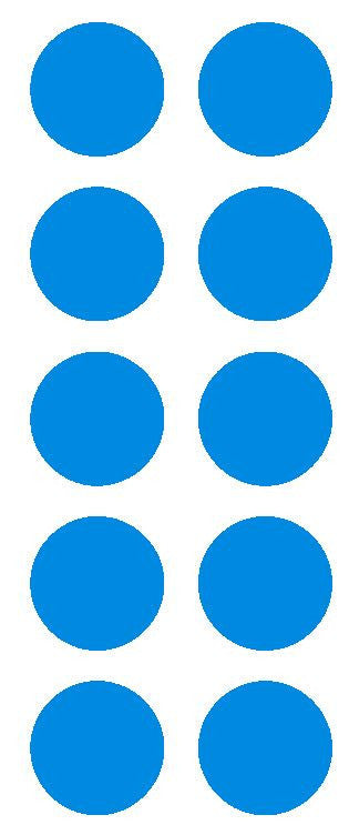"2"" Med Blue Round Color Coded Inventory Label Dots Stickers - Winter Park Products"