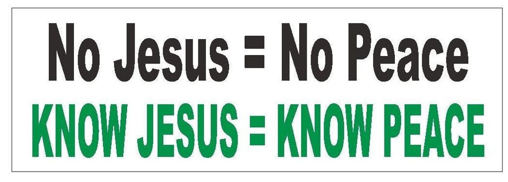 Know Jesus Know Peace Religious Bumper Sticker or Helmet Sticker D397 God CHURCH - Winter Park Products