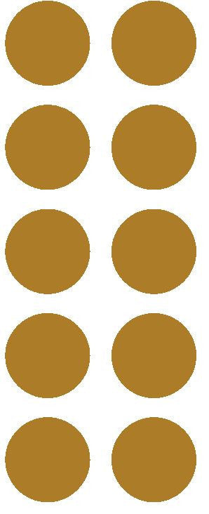 "1-1/2"" Gold Round Color Coded Inventory Label Dots Stickers - Winter Park Products"