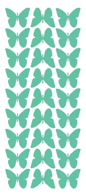 "Mint Green 1"" Butterfly Stickers BRIDAL SHOWER Wedding Envelope Seals School arts & Crafts - Winter Park Products"