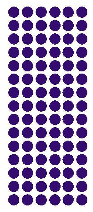 "1/2"" PURPLE Round Vinyl Color Coded Inventory Label Dots Stickers - Winter Park Products"