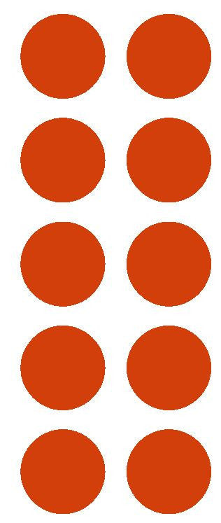 "2"" Red Round Color Coded Inventory Label Dots Stickers - Winter Park Products"
