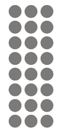 "1"" Dark Gray Grey Round Vinyl Color Code Inventory Label Dot Stickers - Winter Park Products"