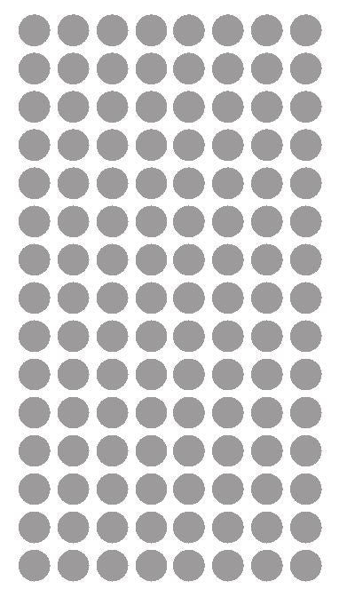 "1/4"" SILVER Round Color Coding Inventory Label Dots Stickers - Winter Park Products"