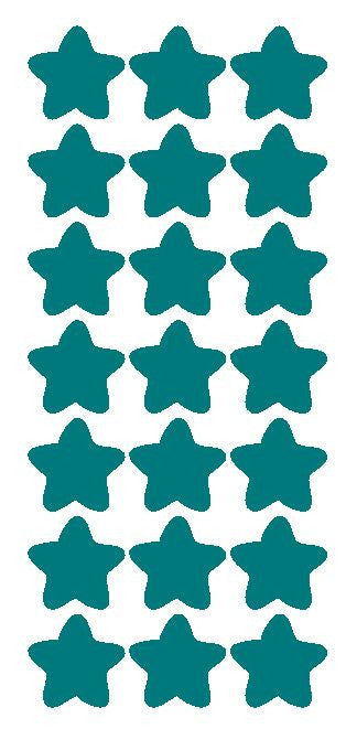 "1-1/4"" Turquoise Star Stickers Wedding Envelope Seals School Arts & Crafts - Winter Park Products"