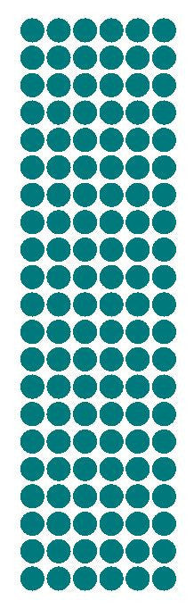 "3/8"" Turquoise Round Vinyl Color Code Inventory Label Dot Stickers - Winter Park Products"