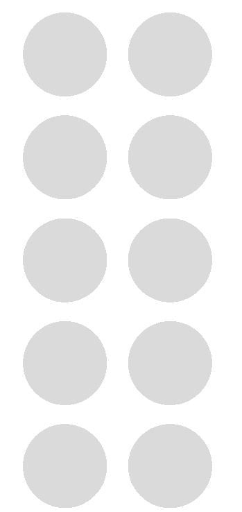 "2"" Lt Gray Grey Round Color Coded Inventory Label Dots Stickers - Winter Park Products"