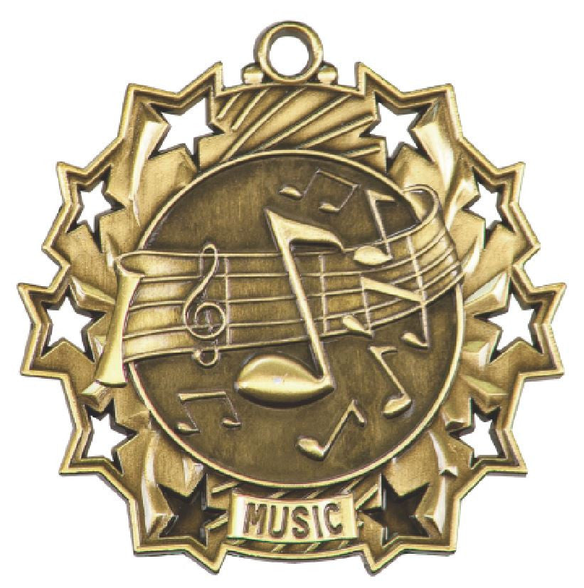 Music Medals Award Trophy W/Free Lanyard FREE SHIPPING TS508 - Winter Park Products