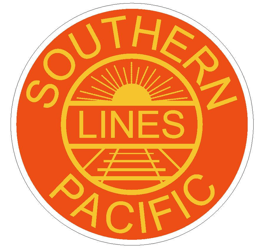 Southern Pacific Lines Railroad Sticker R30 - Winter Park Products