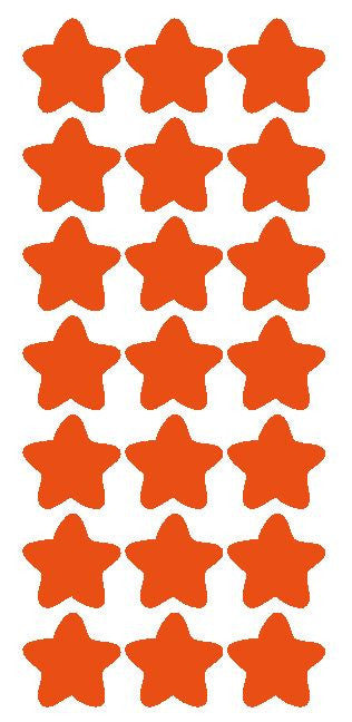 "1-1/4"" Orange Star Stickers Wedding Envelope Seals School Arts & Crafts - Winter Park Products"