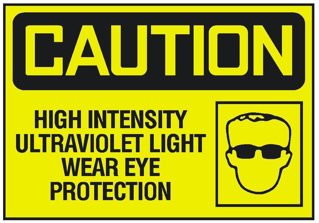 Caution UV Ultraviolet Light Eye Protection Sticker OSHA Safety Sign Decal D255 - Winter Park Products