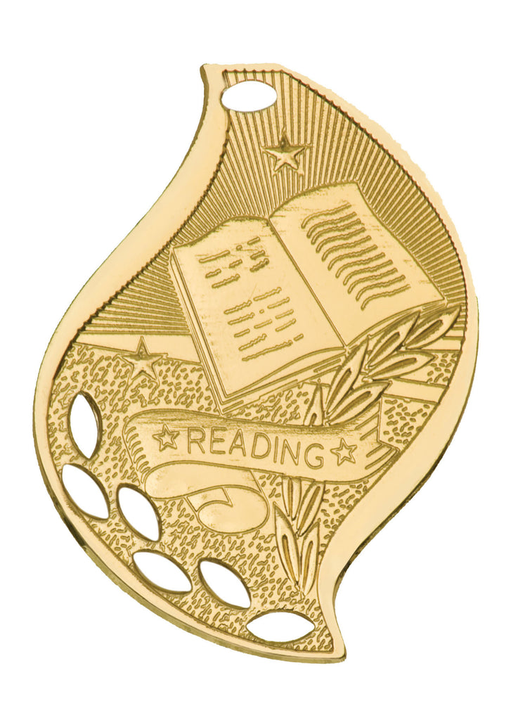 Reading Medal Award Trophy With Free Lanyard FM214 - Winter Park Products