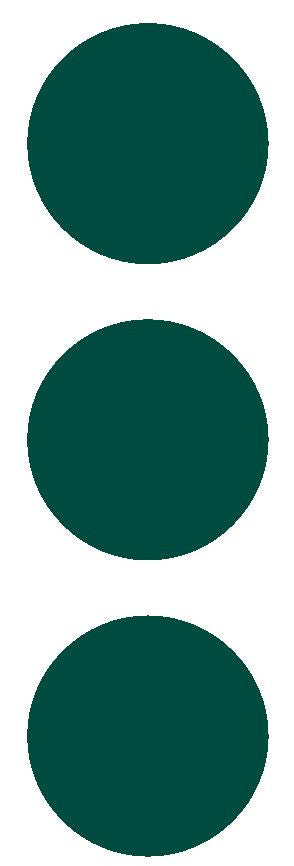 "3"" Dk Green Round Color Code Inventory Label Dots Stickers - Winter Park Products"