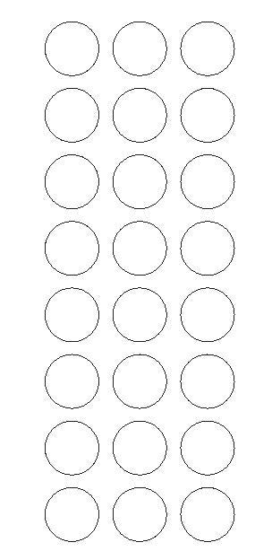 "1"" White Round Vinyl Color Code Inventory Label Dot Stickers - Winter Park Products"