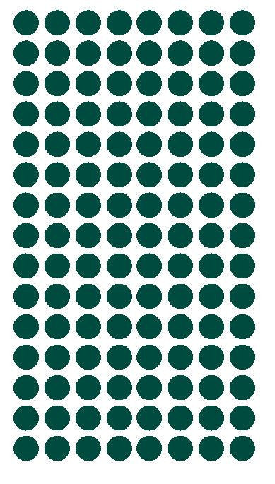 "1/4"" DARK GREEN Round Color Coding Inventory Label Dots Stickers - Winter Park Products"