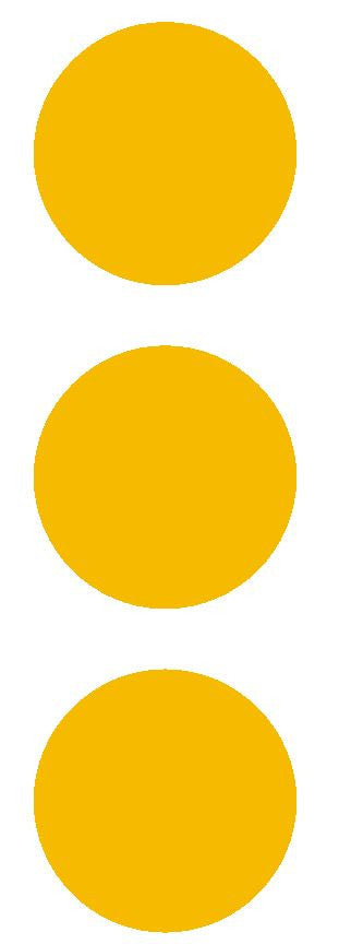 "2-1/2"" Golden Yellow Round Color Code Inventory Label Dots Stickers - Winter Park Products"