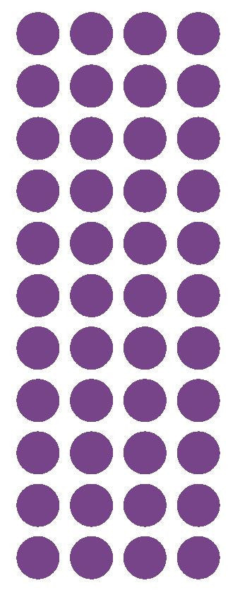 "3/4"" Lavender Round Color Code Inventory Label Dot Stickers - Winter Park Products"