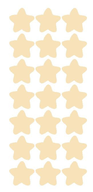 "1-1/4"" Ivory Star Stickers SHOWER Wedding Envelope Seals School Arts & Crafts - Winter Park Products"