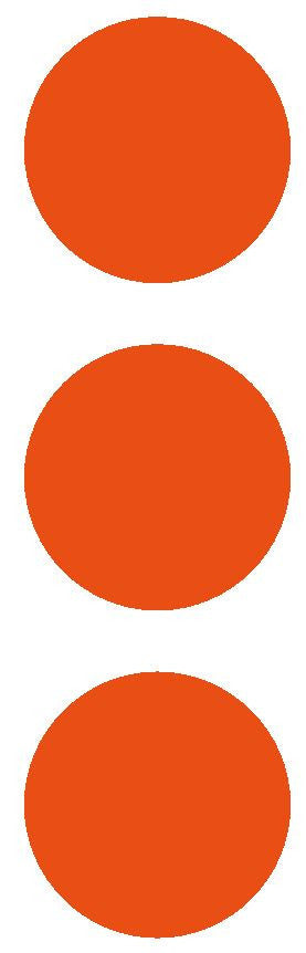 "2-1/2"" Orange Round Color Code Inventory Label Dots Stickers - Winter Park Products"