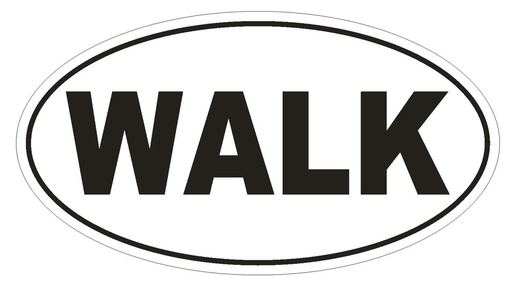 WALK EURO OVAL Bumper Sticker or Helmet Sticker D515 - Winter Park Products