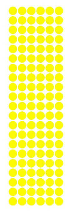 "3/8"" Light Yellow Round Vinyl Color Code Inventory Label Dot Stickers - Winter Park Products"