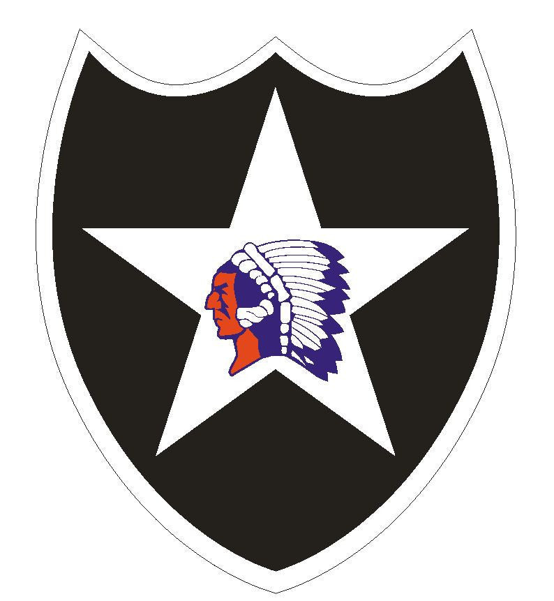2nd Infantry Sticker R430 - Winter Park Products