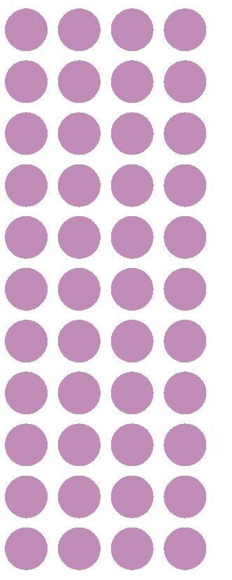 "3/4"" Lilac Round Color Code Inventory Label Dot Stickers - Winter Park Products"