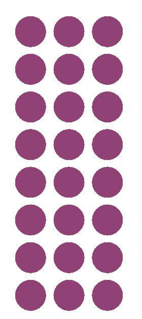 "1"" Plum Round Vinyl Color Code Inventory Label Dot Stickers - Winter Park Products"