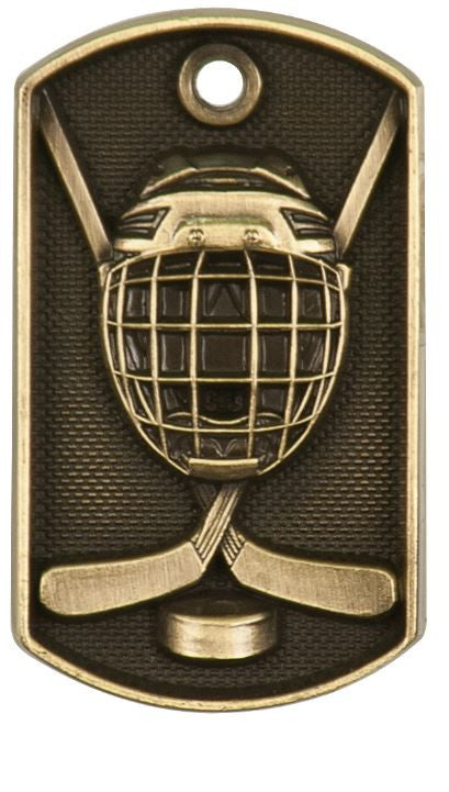 Hockey Dog Tag Award Trophy Team Sports W/Free Bead Chain FREE SHIPPING DT206 - Winter Park Products