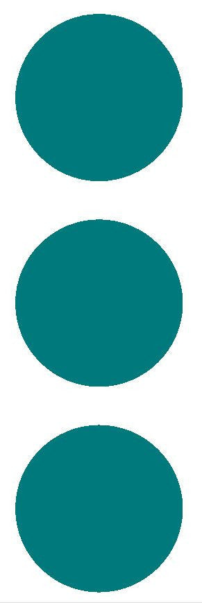 "3"" Turquoise Round Color Code Inventory Label Dots Stickers - Winter Park Products"