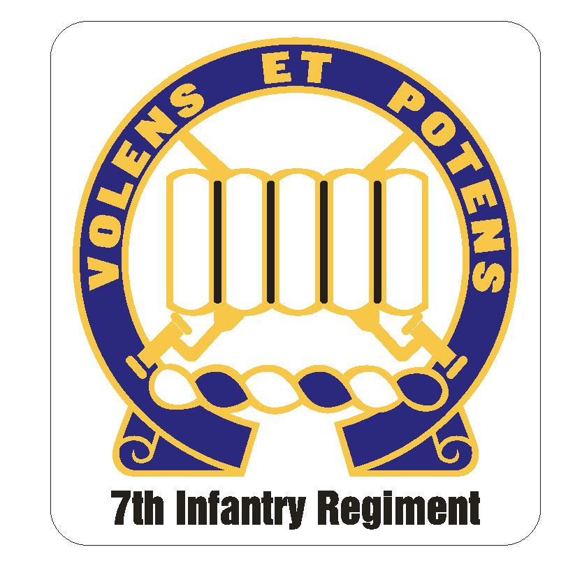 7th Infantry Regiment Sticker R424 - Winter Park Products