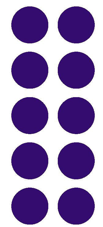 "2"" Purple Round Color Coded Inventory Label Dots Stickers - Winter Park Products"