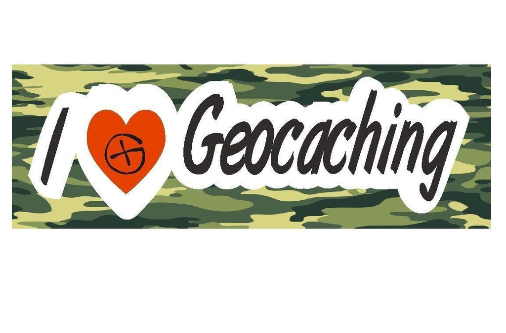 Geocaching Logo Swag Treasure Hunt Bumper Sticker or Helmet Sticker #D211 - Winter Park Products