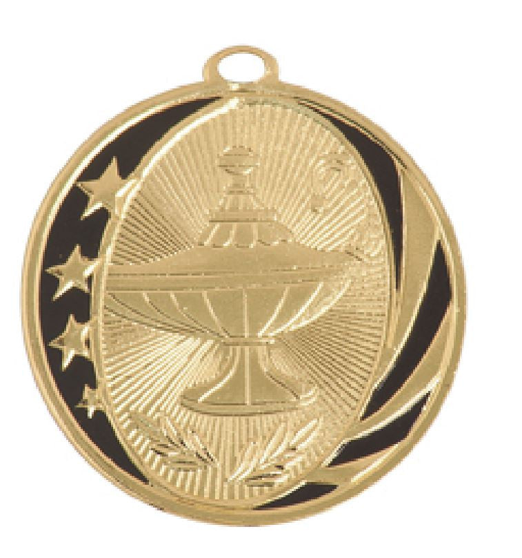 Lamp of Knowledge Medal Award Trophy With Free Lanyard MS706 - Winter Park Products