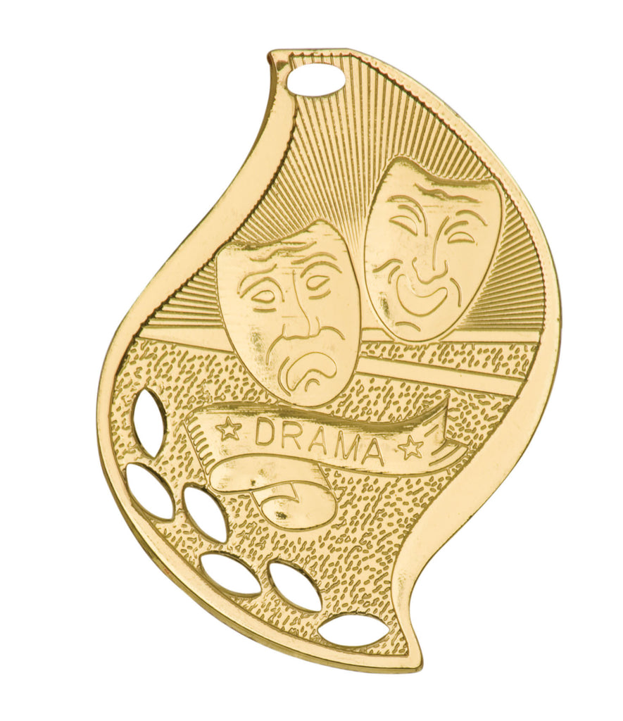 Drama Medal Award Trophy With Free Lanyard FM205 - Winter Park Products