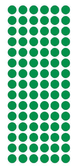 "1/2"" GREEN Round Vinyl Color Coded Inventory Label Dots Stickers - Winter Park Products"
