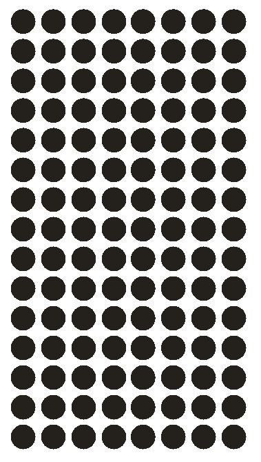 "1/4"" BLACK Round Color Coding Inventory Label Dots Stickers - Winter Park Products"