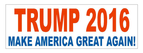 "DONALD TRUMP 2016 TRUMP FOR PRESIDENT BUMPER STICKER 3"" x 9"" D821 - Winter Park Products"