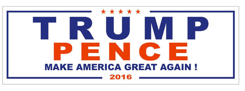 Trump Pence 2016 TRUMP FOR PRESIDENT BUMPER STICKER or Helmet Sticker D2742 - Winter Park Products