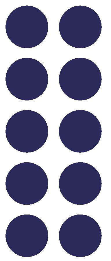 "2"" Sapphire Blue Round Color Coded Inventory Label Dots Stickers - Winter Park Products"
