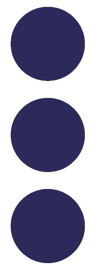 "2-1/2"" Sapphire Blue Round Color Code Inventory Label Dots Stickers - Winter Park Products"