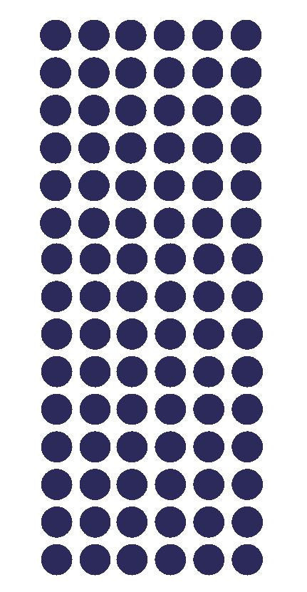 "1/2"" Sapphire Blue Round Vinyl Color Coded Inventory Label Dots Stickers - Winter Park Products"